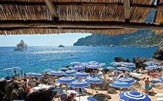 La Fontelina, Capri: Amazing seafood with a view of the Faraglioni. Take a boat to avoid the steep steps back up the mountain.