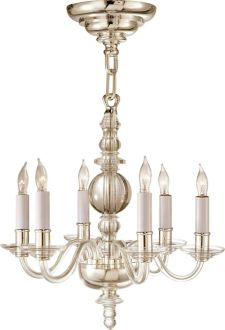 MINI GEORGE II CHANDELIER  - island? great size and not heavy feeling if you want to do chandeliers over the island. Alt option for the butler's pantry