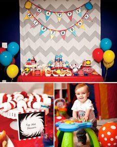 Whimsical Dr. Seuss First Birthday Party {Oh What Fun!}. Top hat skewers- marshmellows and strawberries