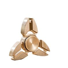 Taold Three Sides Fidget Spinner Toy Relieve Stress High Speed Focus Toy for Killing Time (Golden2)