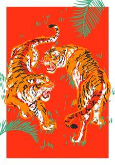 na / Illustration Et Wallpaper, Animal Wallpaper, Tiger Wallpaper Iphone, Tiger Art, Tiger Drawing, Art Graphique, Aesthetic Art, Art Inspo, Art Reference