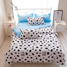 Solstice Home Textile Autumn Winter Cartoon Stripe Duvet Cover Flat Sheet pillowcase 3/4pcs Bed Linens Bedding Set Bed Cover Set