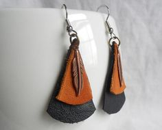 leather earrings - Google Search