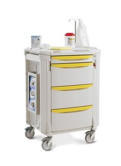 """Flexline Isolation Cart - 45"""" high in your choice of (10) drawer pull colors."""
