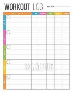 Workout Log Printable, Fitness Printable, Exercise Log, Fitness Tracker