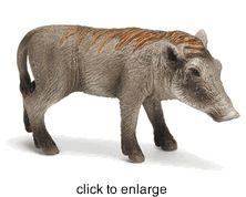 Schleich - Warthog Piglet - Retired - click to enlarge