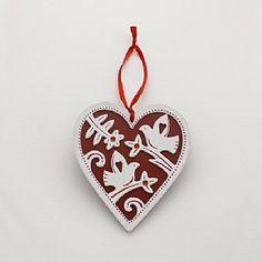 Buy Season's Scarlet Heart Decoration from Pia Jewellery