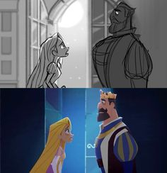 rapunzel tangled before ever after Storyboard Drawing, Animation Storyboard, Animation Reference, Walt Disney Pixar, Disney Tangled, Disney Art, Rapunzel, Jack Frost, Comic Layout