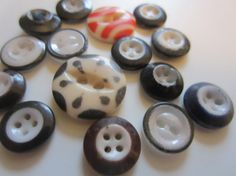 Vintage Buttons   Cottage chic china ringer mix by pillowtalkswf, $6.95