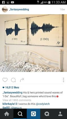 Sound art as a romantic reminder of your vows. Cute Wedding Ideas, Wedding Goals, Perfect Wedding, Our Wedding, Wedding Planning, Dream Wedding, Wedding Inspiration, Wedding Vow Art, Fantasy Wedding