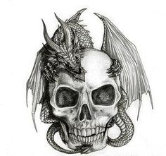 skull with flames tattoo designs - Google Search