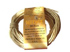 200ft Spool Pre Bees waxed Candle Wicks Homankit Beeswax Hemp Candle Wick Cand