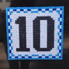 Hama bead Perler bead house number sign by mikagard