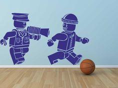 Muursticker Lego Politie & Boef | Kids | 101WOONSTICKERS / MUURSTICKERS