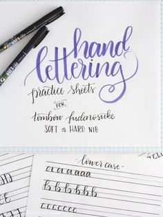 These free printable hand lettering practice sheets are designed help you practice the strokes of each letter to build up that muscle memory. A big help for lettering His love in Bible journaling! Doodle Lettering, Creative Lettering, Lettering Styles, Brush Lettering, Hand Lettering Fonts Free, Chalk Typography, Hand Lettering For Beginners, Handwritten Letters, Calligraphy Letters