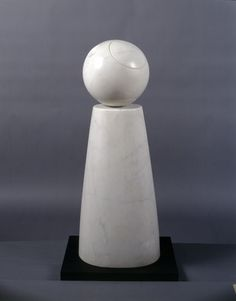 Barbara Hepworth Cone and Sphere, White matble 1973