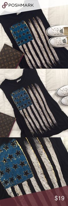 NWOT - Fashion USA Flag Muscle T-Top NEW NEW NEW Tops Muscle Tees