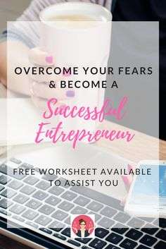 We all have a fear or two when starting to work for ourselves, but we need to overcome that fear to be come a successful entrepreneur. Free worksheet available to assist you. Make Money From Home, How To Make Money, How To Become, Budgeting Money, Be Your Own Boss, Worksheets, How To Start A Blog, Saving Money, Entrepreneur