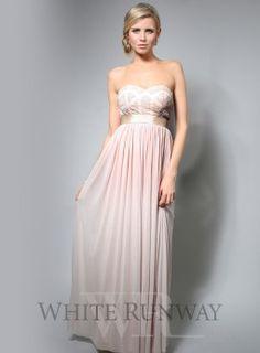 Champagne, embellished bridesmaid dress, strapless bridesmaid dress
