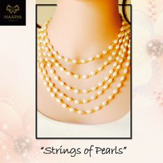 This multilayered string of pearls is absolutely lovely and completes every look with a dash of elegance. Contact Maarya Jewels at 09810833221. #MaaryaJewels #Stylish #Designer #Necklace #Jewellery