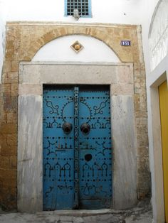 Tunisia I was so in love with these blue doors!!
