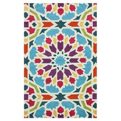 "Hand-tufted rug with a floral motif.  Product: RugConstruction Material: 100%  7'6"" x 9'6""  - $307 at Joss and Main"