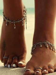 HOT Fashion Gold Silver Ankle For Women Beach Foot Chain Anklets Bracelet on the Leg Pearl Pendant Foot Jewelry