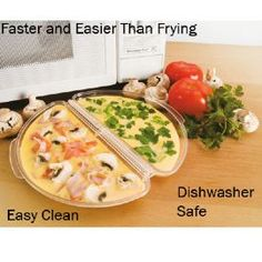 For a super easy take on the omelette, why not try a Microwave Omelette Maker– all you have to do is add beaten eggs and some yummy fillings like diced ham and tomato, grated cheese and some herbs and place in the microwave for 2 to 4 minutes. Then, simply fold the two halves together and presto, the perfect omelette!- Microwave Omlette Maker - #Magnamail