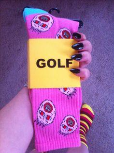 "They finally shipped! #GolfWang Tyler, the Creator ""cherry bomb"" printed socks"