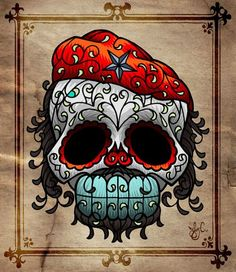 Explore amazing art and photography and share your own visual inspiration! Cigar Box Crafts, Crown Art, Halloween 6, All Souls Day, Sugar Skull Art, Skulls And Roses, Skull Makeup, Mexican Folk Art, Skeletons