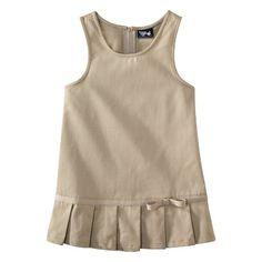 dd0163a0f French Toast® Toddler Girls School Uniform Pleated Hem Jumper Girls School, School  Uniform Girls