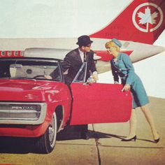 1960 Canadian Airline Ad reminds me of the show Pam am which I love
