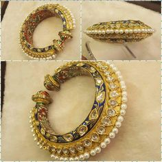 Bangles - costume jewelry necklaces, jewelry and watches, jewelry bracelets *ad India Jewelry, Fine Jewelry, Gold Jewelry, Purple Jewelry, Stylish Jewelry, Diamond Jewellery, Jewellery Box, Diamond Rings, Gold Bangles