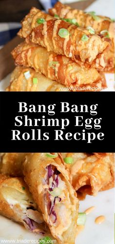 Bang Bang Shrimp Egg Rolls Recipe More from my siteAvocado Egg Rolls Recipe or Guacamole Egg rolls Recipe Best Recipe Box Factory Tex Mex Egg Rolls (Copycat) – Dinner, then Dessert Cheesesteak Eggrolls Shrimp Egg Rolls, Chicken Egg Rolls, Shrimp And Eggs, Chop Suey, Chapati, Yummy Appetizers, Appetizer Recipes, Asian Appetizers, Shrimp Appetizers