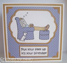 GDT Card for the Here Come the Boys challenge using a Little Claire stamp Male Birthday, Birthday Cards For Men, Men's Cards, Marlow, True Friends, My Stamp, Book Stuff, Handmade Cards, Stampin Up