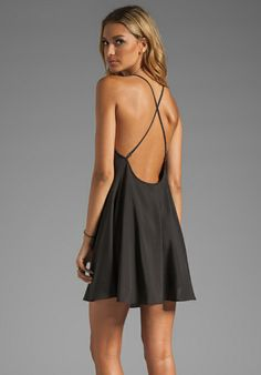 NAVEN Neon Collection Babydoll Dress in Black - Naven