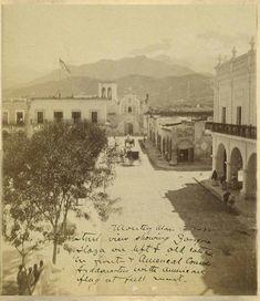 Calle Zaragoza y Antiguo Palacio Municipal de Monterrey