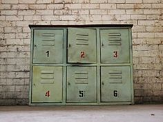 This industrial locker sideboard is perfect as a kitchen island, storage unit or TV stand. These metal lockers are perfect for any cafe, bar restaurant or home. Industrial Lockers, Metal Lockers, Industrial Furniture, Kitchen Furniture, Rustic Furniture, Affordable Furniture Stores, Vintage Lockers, E Room, Sideboard