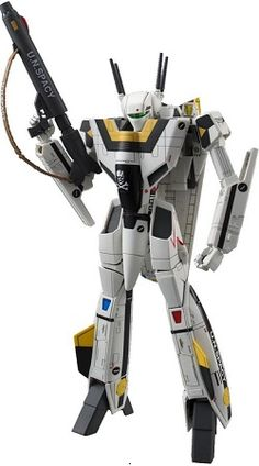 The Strike Valkyrie VF-1S action figure is 6″ tall and comes with a custom base for display.