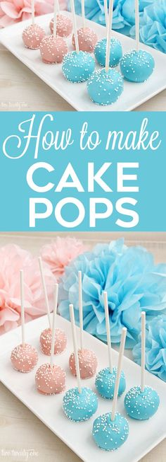 How to make cake pops! LOVE these tips and tricks to get the perfect cake pops!