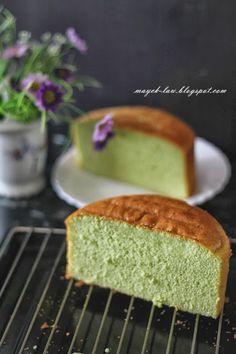 厨苑食谱: 全蛋式~班兰海绵蛋糕 (Pandan Sponge Cake)
