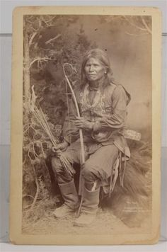 1880s Native American Mescalero Apache Indian Brave Dancer Cabinet Card Photo | eBay