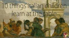 10 sentences Italian children learn at the table