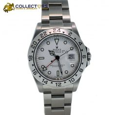 Rolex Explorer II 16570 T Stainless Steel White Dial D-Series GMT Watch #rolex #explorer #stainless #steel #white #dial #GMT #watch now available at www.shopccj.com - GET 2% OFF using coupon code: SMR14 #jewelry #sale #shopccj @eBay