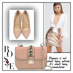 """Valentino Garavani Bag"" by mahira-muminovic ❤ liked on Polyvore featuring Rare London, Valentino and Charlotte Olympia"