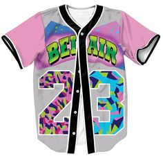 Fresh Prince Baseball Jersey #23 Pink Please order 2 sizes up from your regular T-shirt size!