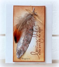 DTGD13TammieE Feather by Biggan - Cards and Paper Crafts at Splitcoaststampers