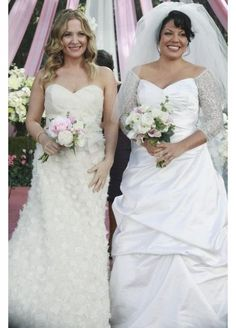 Arizona Robbins and Callie Torres   #Wedding #GreysAnatomy
