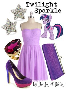 Buy Twilight Sparkle's look: Dress, $74.99  ;  Shoes, $46.99  ;  Clutch, $10.99  ;  Pink ring, $24.94  ;  Earrings, $13.99Outfit inspired by Twilight Sparkle from My Little Pony! I know this isn't Disney, but many lovely reader's requested it.