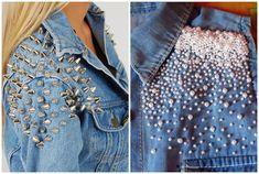customizar jaqueta jeans com perolas - Pesquisa Google